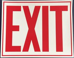 #373 10x8 Vinyl Sticker-Exit