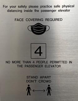 #CV991-Engraved Plastic-Mask-Elevator Ca