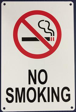 #1131  6x9 .020 Alum.-No Smoking