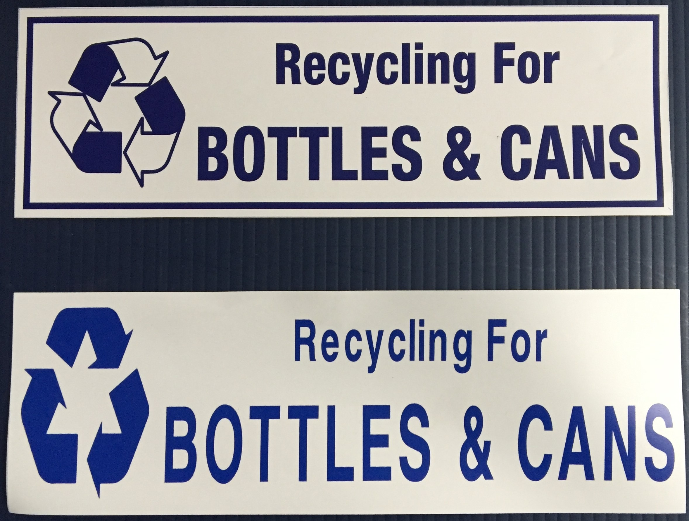 #334  12x4  Vinyl Sticker-Recycle Bottle