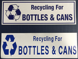#334  12x4  Vinyl Sticker-Recycle Bottle