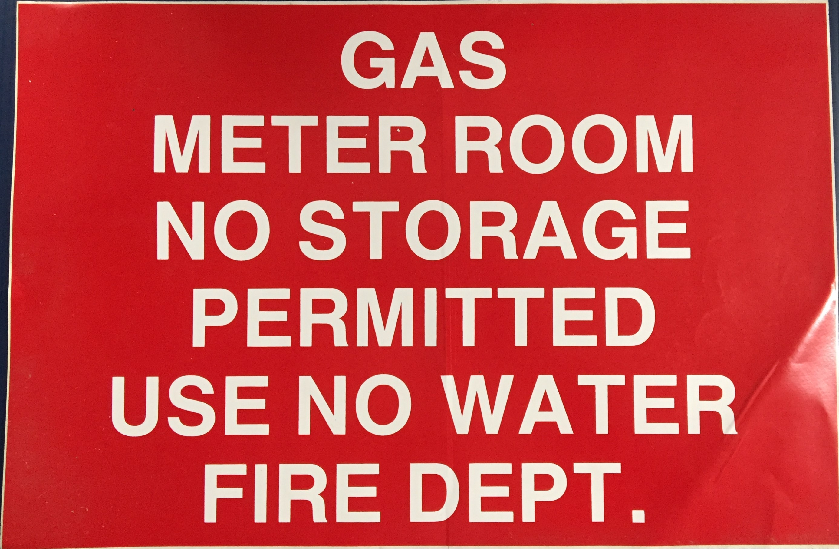 #350      18x12 Vinyl Sticker-Gas Meter