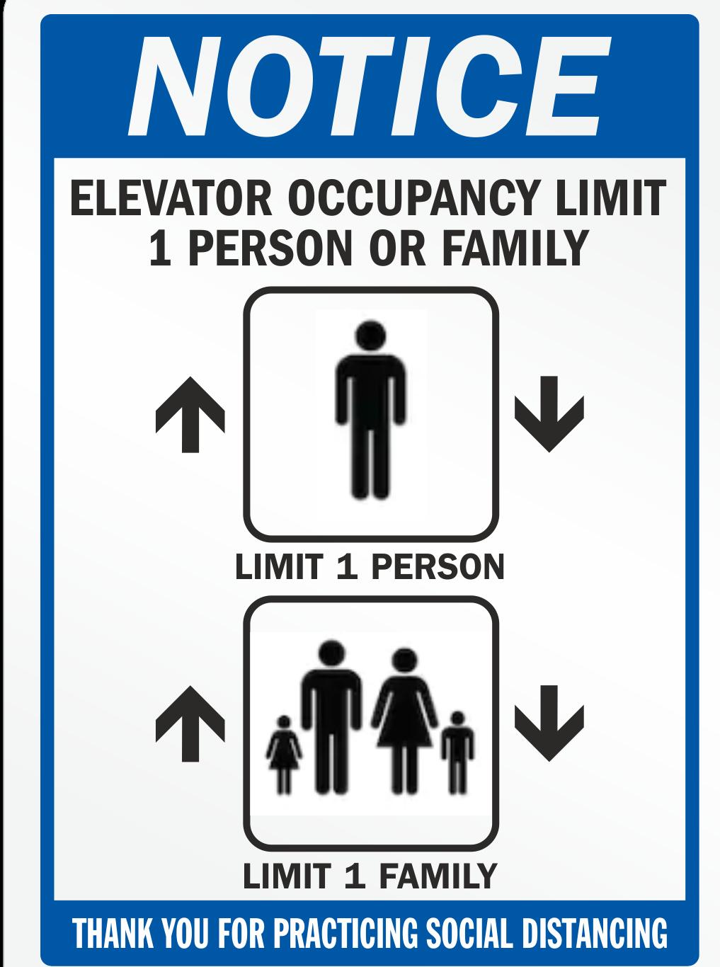 CV913 ELEVATOR CAPACITY NOTICE