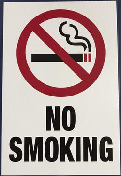 #348  6x9 .020 Alum.-No Smoking