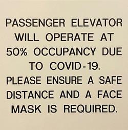 #CV938-Engraved Plastic Elevator Sign 8x