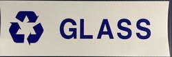 #337  12x4  Vinyl Sticker-Glass Recycle.