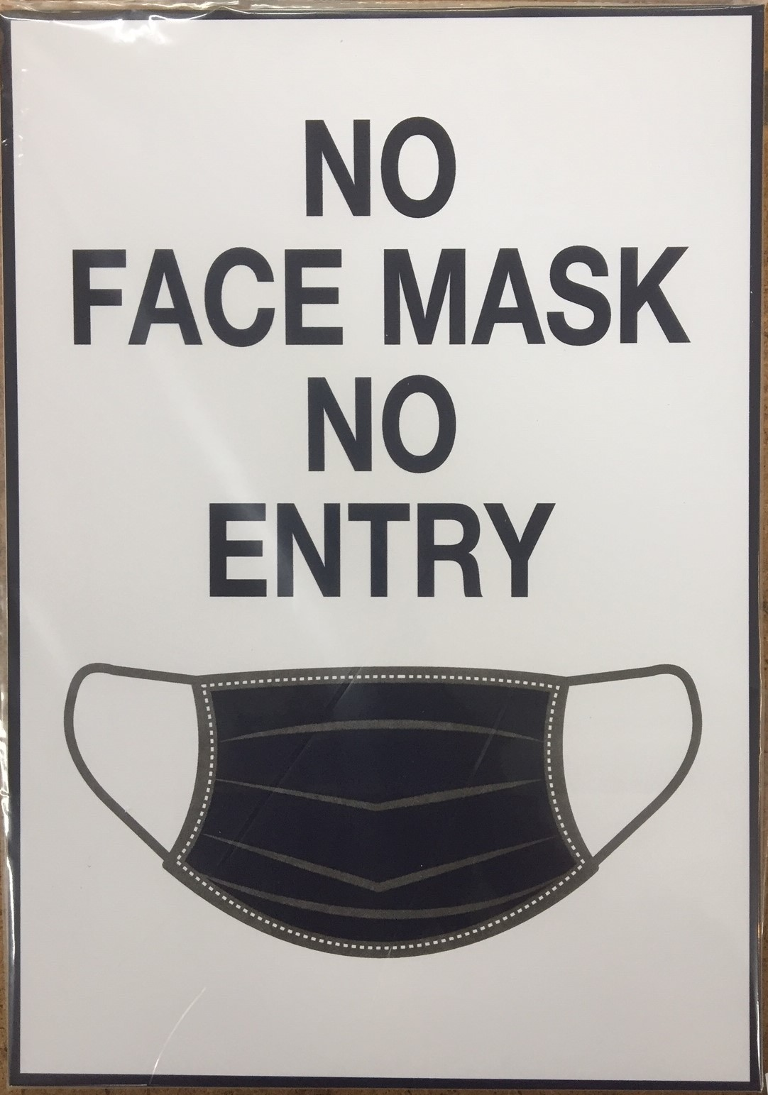 #CV940-No Mask No Entry