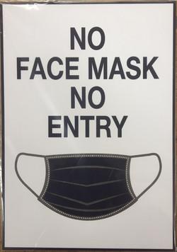 #CV940-No Mask No Entry