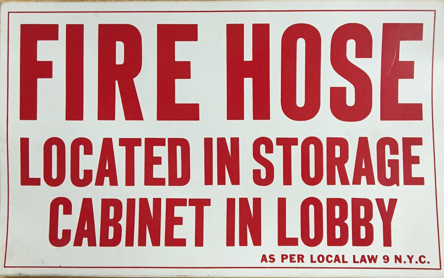#CL205  13x8 Vinyl Sticker-Fire Hose Loc