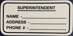 #1116    6x3 .020 Alum.-Small Super ID