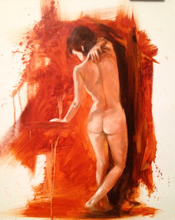standing nude woman, 2014