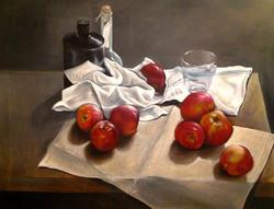 Äpfeln mit Hendricks und Obstler
