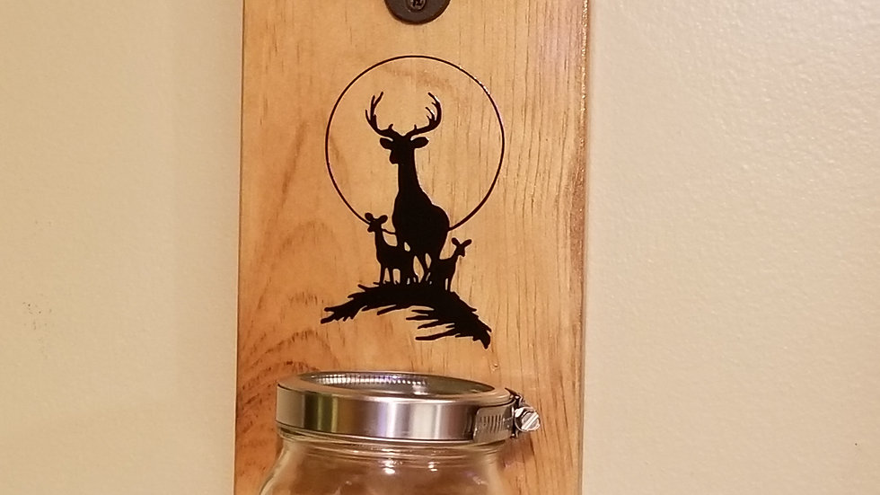 Deer bottle opener with Mason jar