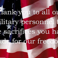 Thank you to all our Troops and Veterans