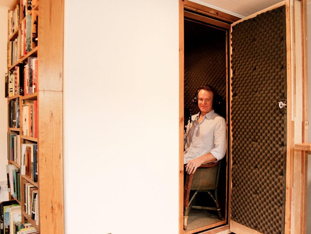 Jamie Parker in his home recording studio