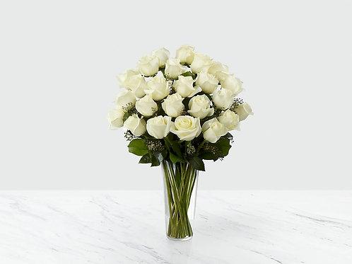 Long White Roses