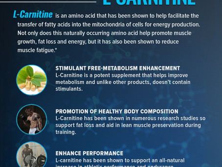 L-Carnitine: Benefits, Side Effects, Sources and Dosage