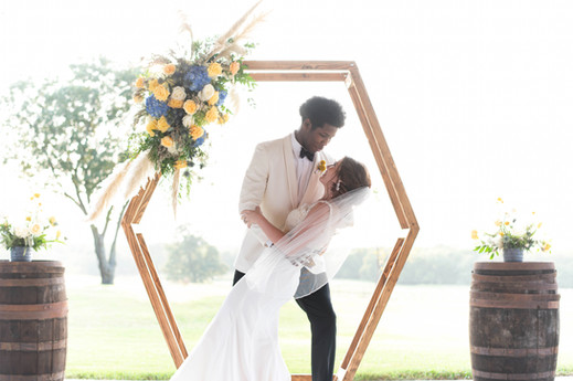 Wedded Couple in Arched Area