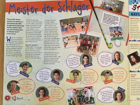 Hockey-Kids in der Kleinen Kinderzeitung