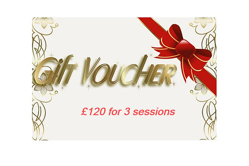 Gift Voucher for 3 Sessions