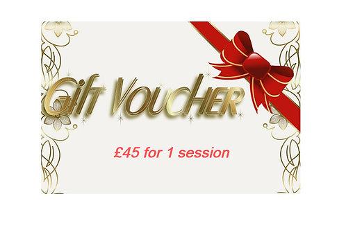 Gift Voucher for 1 Session