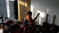Checking new guitar