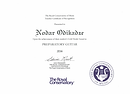 RCM Teacher Certificate of Recognition