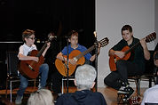 Guitar ensemble performs Metalica