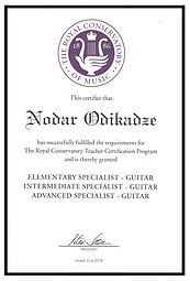 Montreal certified guitar teacher
