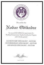 Montreal certified guitar teacher