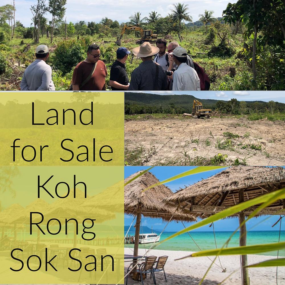Koh Rong Land For Sale Sok San Flat land hard title deed