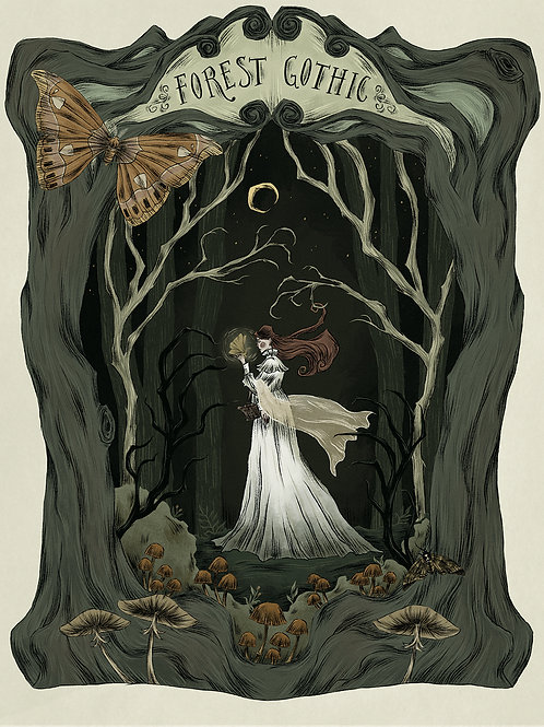 Forest Gothic print