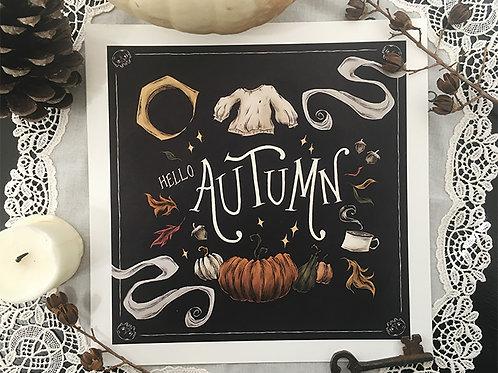 Hello Autumn print