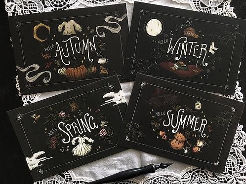 Hello Seasons postcard set