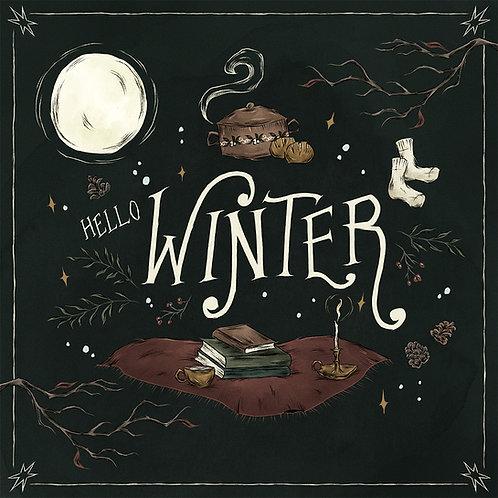 Hello Winter print