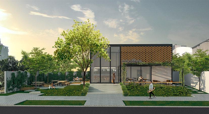 Casa Arquitetura Escada Elevação Render Placa cimentícia Vegetação