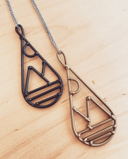 Mountain Teardrop Necklaces