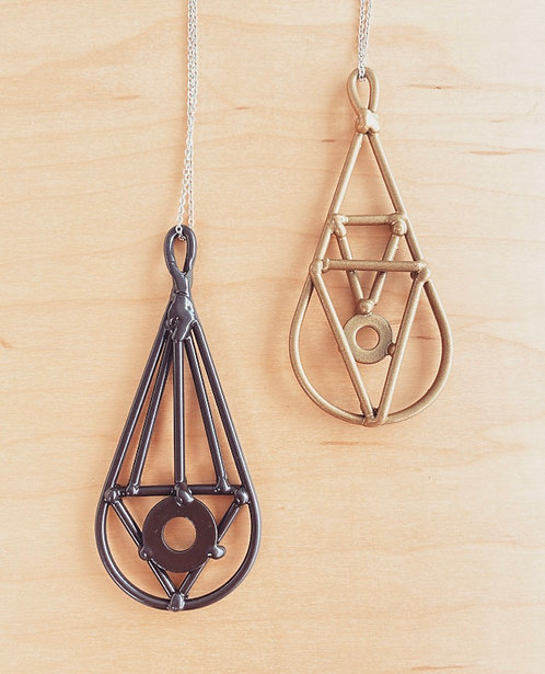Geometric Drop Necklaces