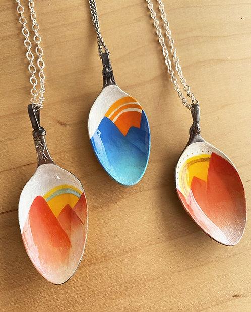 Mountain Spoon Necklaces
