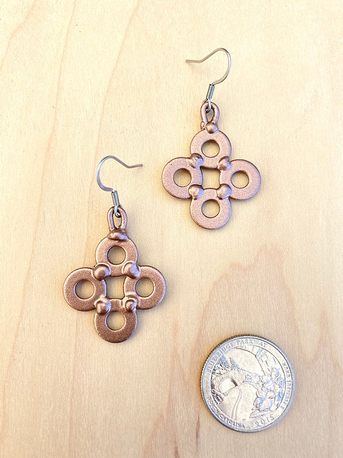 Copper Clover Earrings