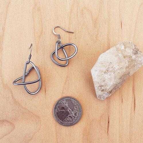Tumbleweed Earrings - Chrome