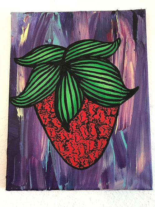 Purple Strawberry Faces