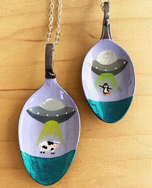 UFO Spoon Necklaces