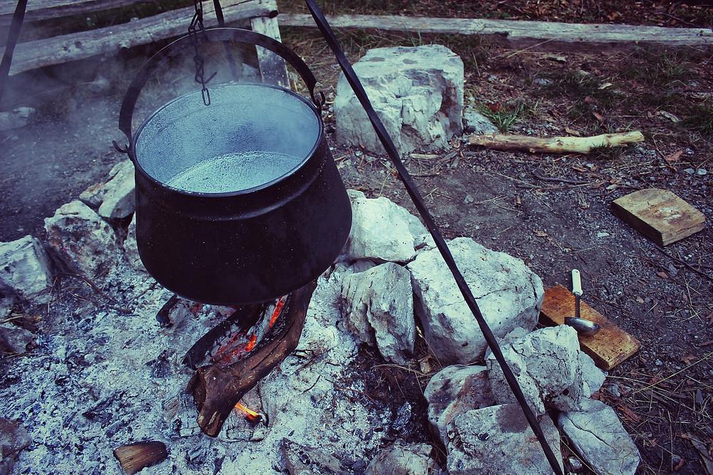 cauldron, soup, percolating, boiling