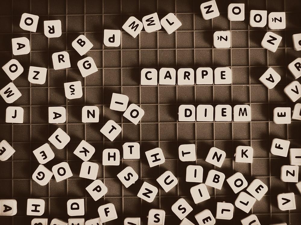carpe diem, YOLO, prepare for tomorrow