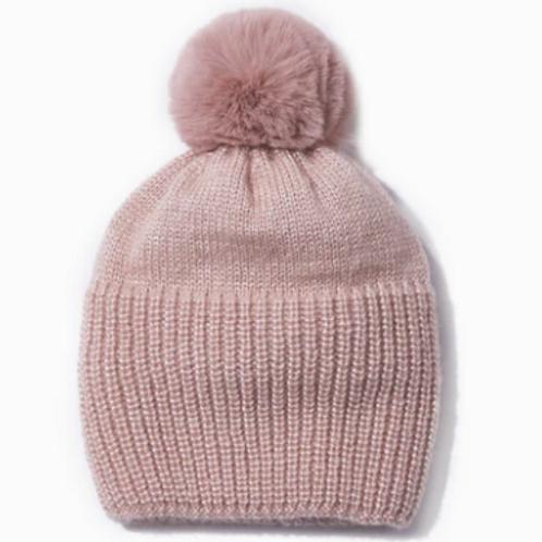 Pom Pom Hat - Blush