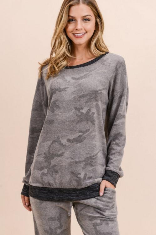 Grey Camo Long Sleeve