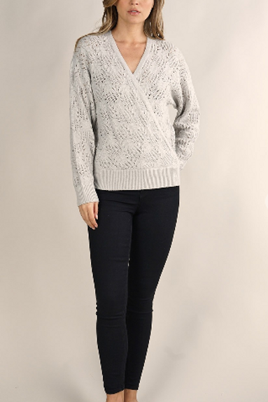 Surplice Grey Sweater