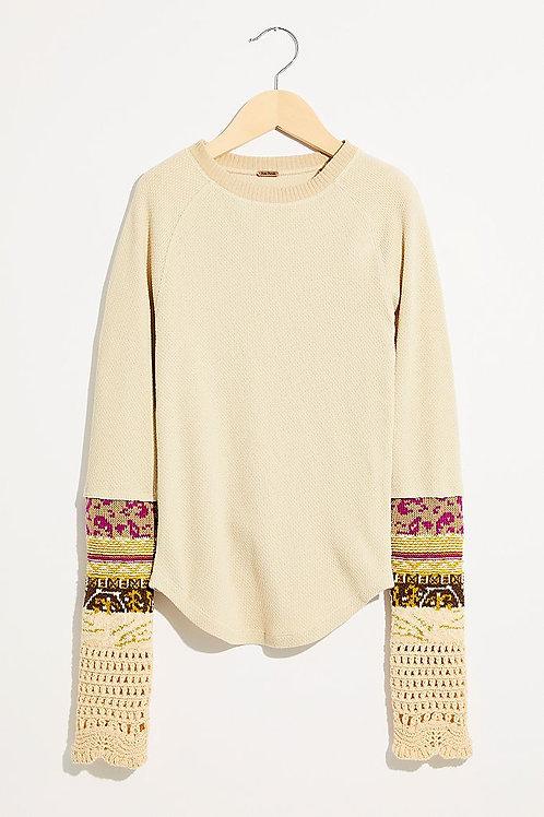 Linen Combo Top