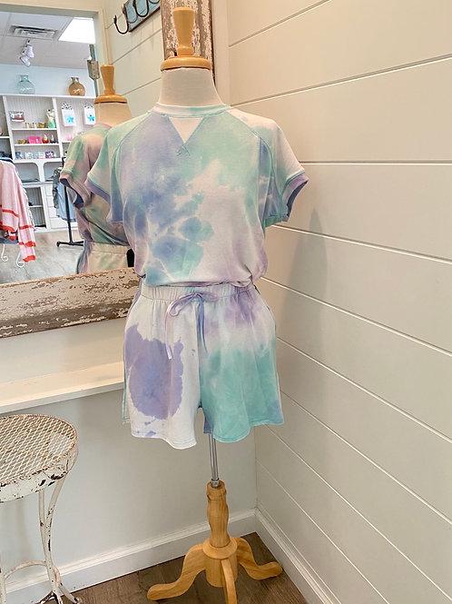 Lavender Tie Dye Short